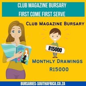 club magazine bursary
