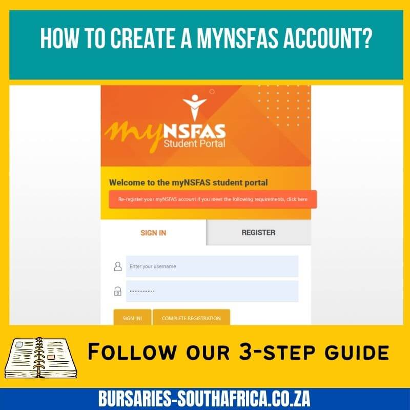 how to create a mynsfas account