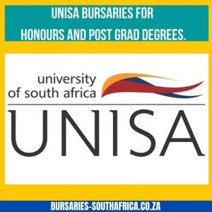 unisa honours bursaries