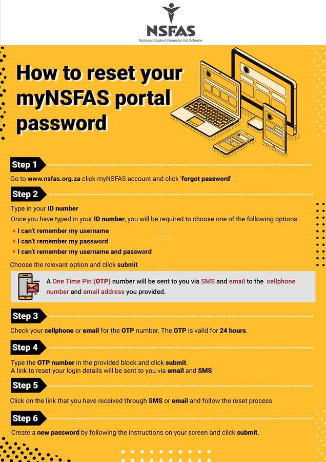 How To Reset Your myNSFAS Portal Password
